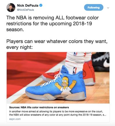 876203936f5 2018-19 NBA Sneaker Rules – The Basketball Beard